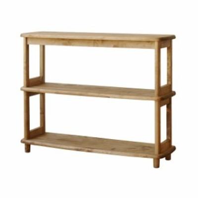 オープンシェルフ ウッドラック 木製 無垢 幅92 組立式