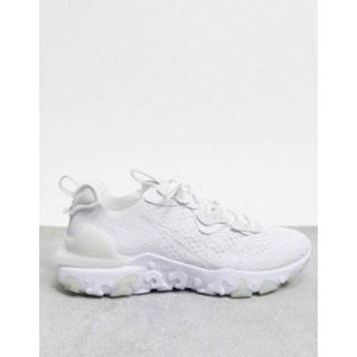 ナイキ メンズ スニーカー シューズ Nike React Vision sneakers in triple white White