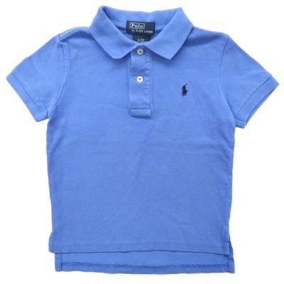 キッズ ラルフローレン Polo Ralph Lauren ポロシャツ ワンポイント サックスブルー サイズ表記:3