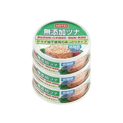 ホテイフーズコーポレーション ホテイ  無添加  ツナ  缶詰  70g  x  3個  x  6