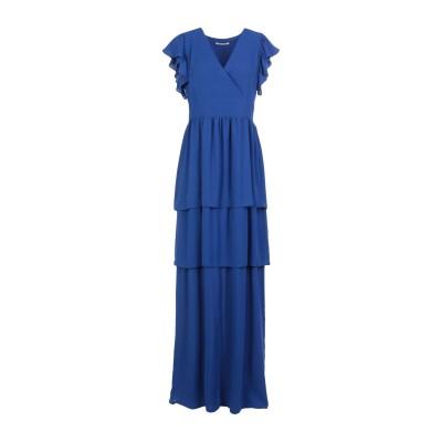 BIANCOGHIACCIO ロングワンピース&ドレス ブルー S ポリエステル 100% ロングワンピース&ドレス