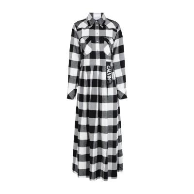 YOOX - CALVIN KLEIN JEANS ロングワンピース&ドレス ブラック L コットン BCI 100% ロングワンピース&ドレス