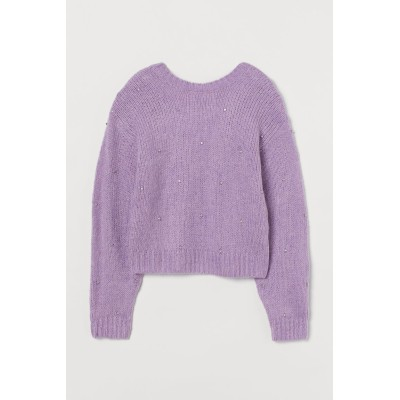 H&M - セーター - パープル