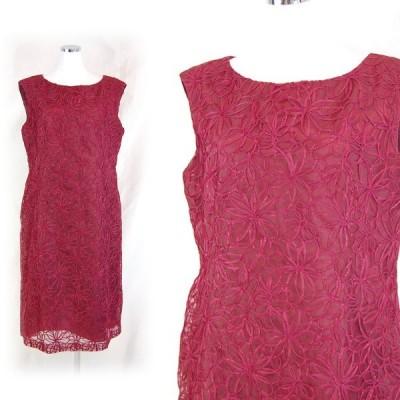 フォーマル パーティ 結婚式 お呼ばれ 二次会 女子会 新品 GENET VIVIEN ジュネビビアン 総刺繍入り パーティドレス XLサイズ
