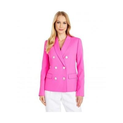 J.Crew レディース 女性用 ファッション アウター ジャケット コート ブレザー Marcey Blazer in Triple Dobby - Neon Flamingo