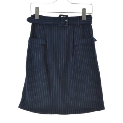 MAJESTICLEGON / マジェスティックレゴン ストライプ柄ベルト付き スカート