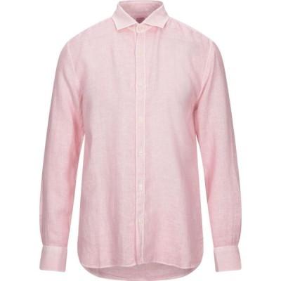 120パーセント 1.2 メンズ シャツ トップス Linen Shirt Pink