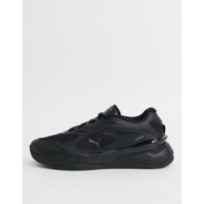 プーマ メンズ スニーカー シューズ Puma RS-Fast sneakers in triple black Black