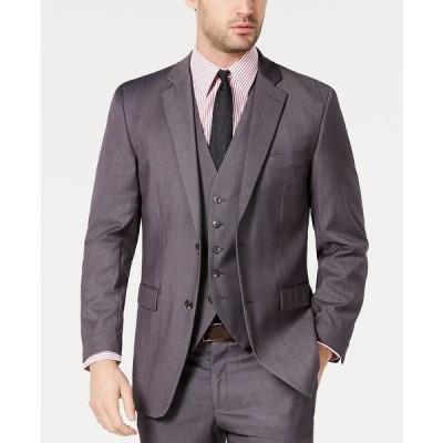ペリーエリス ジャケット&ブルゾン アウター メンズ Men's Portfolio Slim-Fit Stretch Suit Jackets Grey Solid
