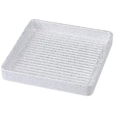 (業務用・肉盛皿)正角肉皿 銀たたき ミニ(14cm)[58715-818](入数:5)