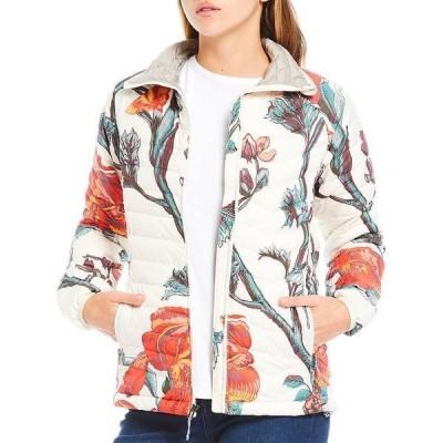 コロンビア レディース ジャケット&ブルゾン アウター Powder Omni-Heat Reflective Lite Quilted Puffer Jacket Chalk Botanica Print