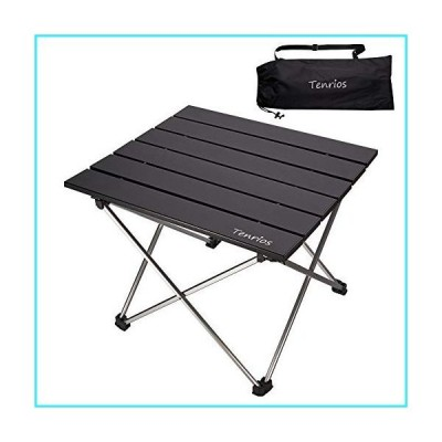 Portable Camping Table, Collapsible Beach Table Folding Side Table Aluminum Top with Carry Bag for Outdoor Cooking, Hiking, Travel, Picnic,