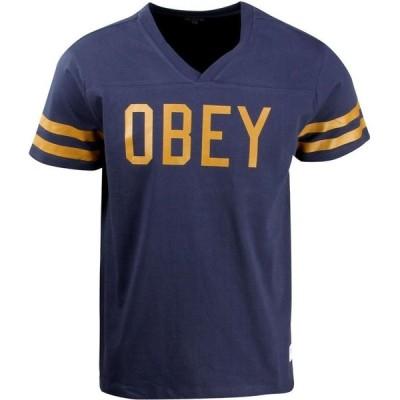オベイ Obey メンズ Tシャツ トップス Maddox Tee blue/indigo