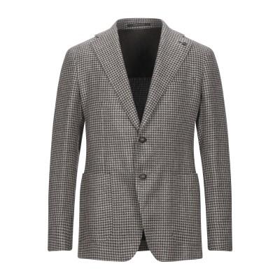 タリアトーレ TAGLIATORE テーラードジャケット ダークブラウン 48 指定外繊維(ヘンプ) 75% / バージンウール 25% テーラード