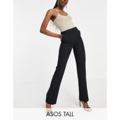 エイソス レディース カジュアルパンツ ボトムス ASOS DESIGN Tall tailored straight leg pants Black