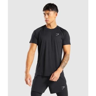 ジムシャーク Tシャツ メンズ 筋トレ スリムフィット ボディビル Tシャツ ジムシャーク スピード ライトウエイト Tシャツ GYMSHARK フィジーク