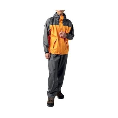 [ファーストダウン] レインウェア 上下セット レインスーツ 防水 撥水 収納袋付き (オレンジ LL)