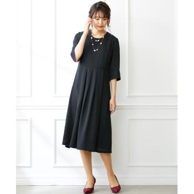 大きいサイズ フォーマルにも使えるシンプルミディ丈ワンピース(OtonaSMILE) ,スマイルランド, ワンピース, plus size dress