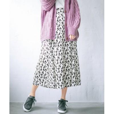 【ジーラ】 ソフトマーメイドシルエットスカート レディース ホワイト LL GeeRa