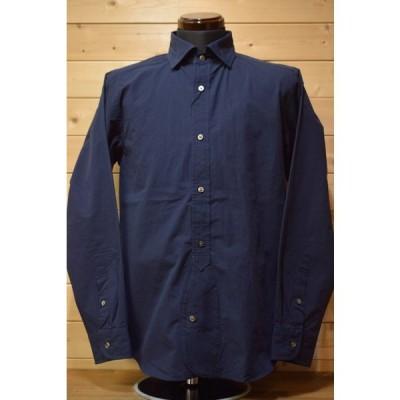 ナイジェルケーボン Nigel Cabourn 80400010011 ブリティッシュオフィサーズシャツ ツイル ネイビー 長袖シャツ