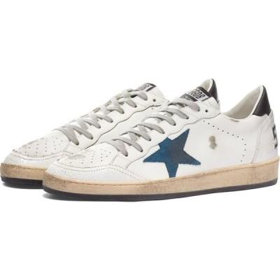 ゴールデン グース Golden Goose Deluxe Brand メンズ スニーカー シューズ・靴 Golden Goose Ball Star Leather Sneaker White/Blue Storm