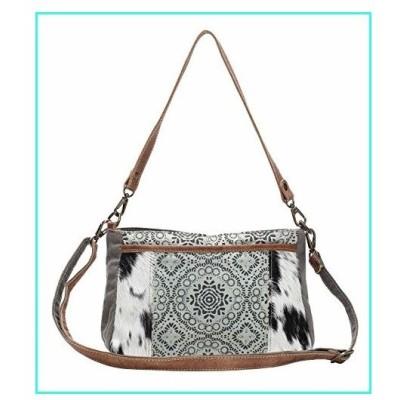 【新品】Myra Bag Dual Strap Cowhide & Upcycled Canvas Bag S-1149, Brown, One Size(並行輸入品)