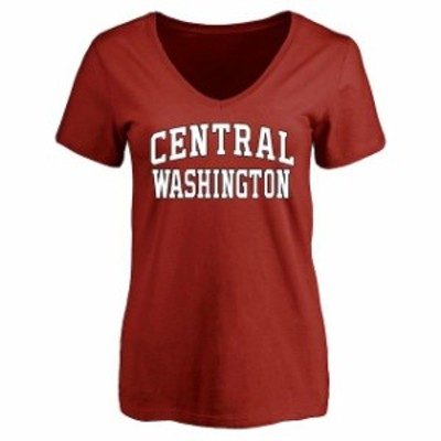 Fanatics Branded ファナティクス ブランド スポーツ用品  Central Washington Wildcats Womens Cardinal Everyday T-S