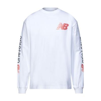 ニュー・バランス NEW BALANCE T シャツ ホワイト S コットン 100% T シャツ