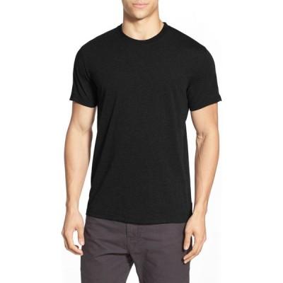 プラーナ PRANA メンズ Tシャツ トップス Slim Fit Crewneck T-Shirt Black