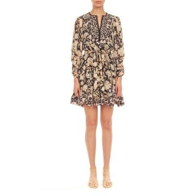 レベッカテイラー レディース ワンピース トップス Long-Sleeve Print Mix Dress
