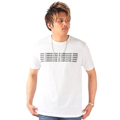 (LUXSTYLE/ラグスタイル)ロゴプリント半袖Tシャツ/Tシャツ メンズ プリント ロゴ 英字/メンズ ホワイト
