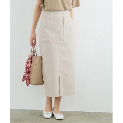 【ロペ】 ポケット付きストレッチタイトスカート レディース ベージュ系 38 ROPE'