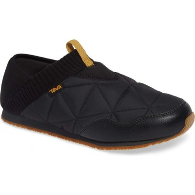 テバ TEVA メンズ スリッポン・フラット モカシン シューズ・靴 Ember Moccasin Black Nylon