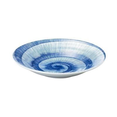 中皿 丸皿 8.5皿 25.7cm 藍日傘 そば皿 おしゃれ 和食器 業務用 美濃焼 m53181002