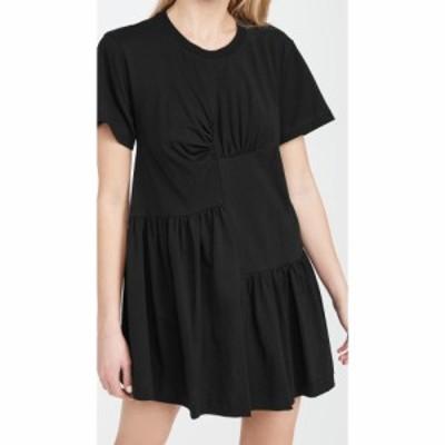 マルケス アルメイダ Marques Almeida レディース ワンピース ワンピース・ドレス Panelled Gathered Dress Black