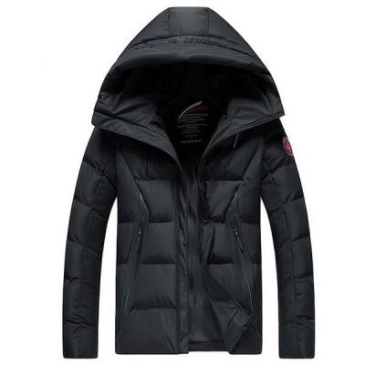 ダウンジャケットメンズ大きいサイズダウンコート中綿ジャケットアウター中綿コートフード付き厚手防寒防風冬物2020新作