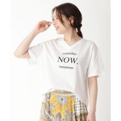 furryrate(ファーリーレイト) VネックロゴプリントTシャツ