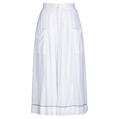 SOEUR 7分丈スカート ホワイト 36 コットン 100% 7分丈スカート