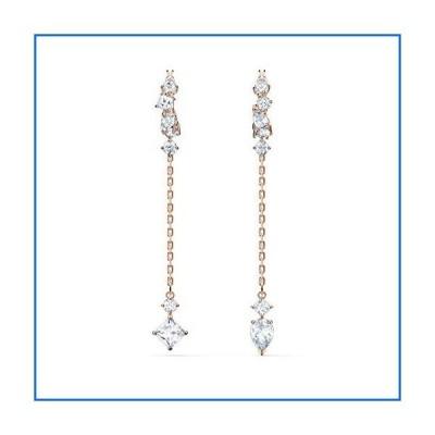 Swarovski Attract Pierced Earrings Rose Gold One Size[並行輸入品]