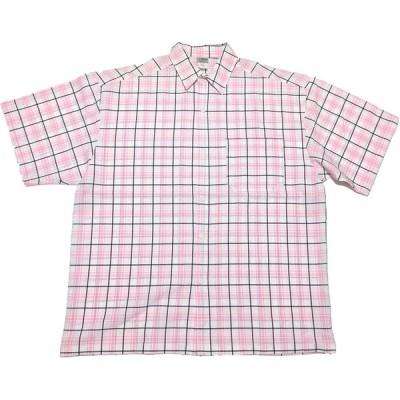 CAL TOP キャルトップ チェック柄 S/S 半袖 シャツ (ピンク/ブラックライン) [並行輸入品]