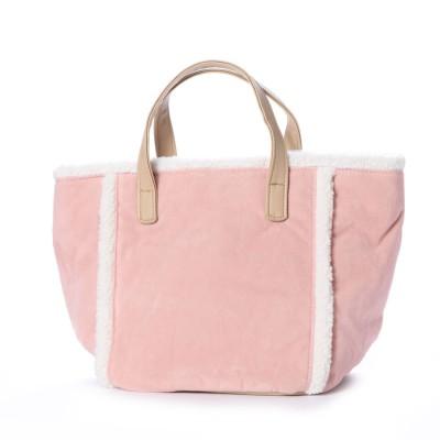 ポルタフォルトゥーナ PORTA FORTUNA モコモコボアパイピングハンドバッグ (ピンク)