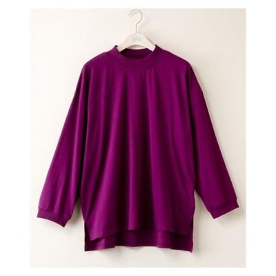 Tシャツ カットソー 大きいサイズ レディース サイドスリット前後差 プルオーバー bi abbey  4L ニッセン nissen