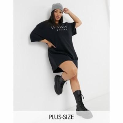 イルサルト Il Sarto Curve レディース ワンピース Tシャツワンピース ワンピース・ドレス Long Sleeve T-Shirt Dress ブラック