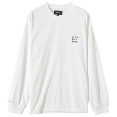 ミズノ メンズ Mizuno KLON Tシャツ(長袖)[ユニセックス] 01ホワイト S ウエア 半袖 D2JA0X11