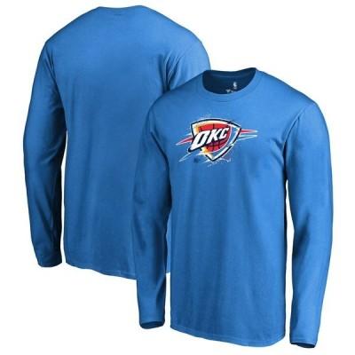 ファナティクス ブランデッド メンズ Tシャツ トップス Oklahoma City Thunder Fanatics Branded Splatter Logo Long Sleeve T-Shirt