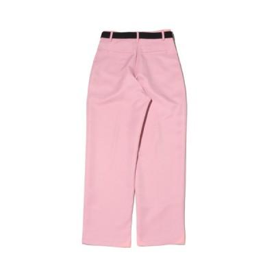 アトモスピンク atmos pink ロングパンツ ベルトツキ カラー ワイドパンツ (PINK) 20HO-I at20-c