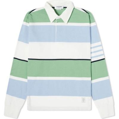 トム ブラウン Thom Browne メンズ ポロシャツ トップス Multi Striped Rugby Shirt Seasonal