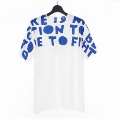 【中古】未使用品 メゾンマルジェラ Maison Margiela 18AW クルーネック エイズ Tシャツ カットソー オーバーサイズ L