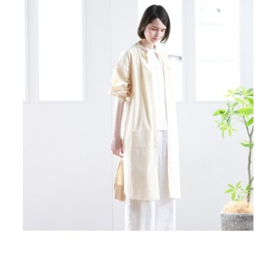 【VOYAGE】異素材ドッキングシャツワンピース