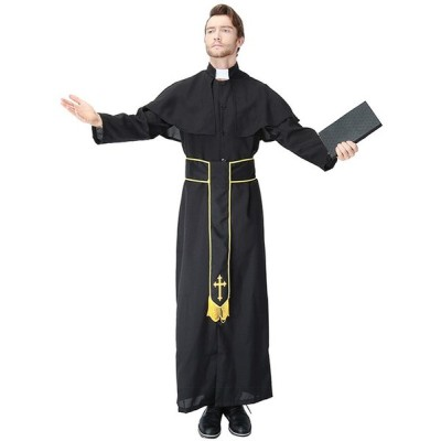 ハロウィン仮装 パーティー仮装 ローブ ゴッドファーザー 神父 宣教師 コスプレ衣装 コスチューム ハロウィン衣装